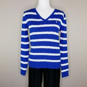 Ralph Lauren Cable Knit Pullover Sweater   Sz S